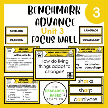 Language Arts Objectives-Unit 3 (3rd Grade- Benchmark Advance-CA)