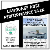 Language Arts Performance Task with Editable Google Doc