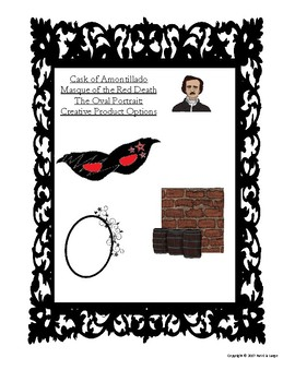 Cask of Amontillado, Masque of the Red Death, Oval Portrait - Poe Products