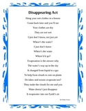 Language Arts Poetry for Weather Unit focusing on  Evaporation