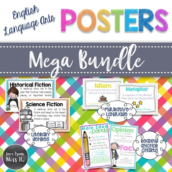 Language Arts Poster Mega Bundle
