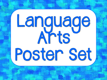 Language Arts Poster Set - Blue Mosaic Design