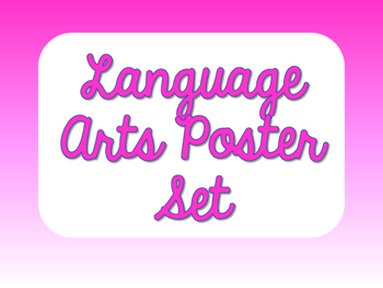 Language Arts Poster Set - Shades of Pink