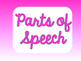 Language Arts Poster Set - Shades of Pink