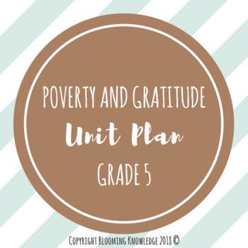 Grade 5 Poverty and Gratitude Unit Plan