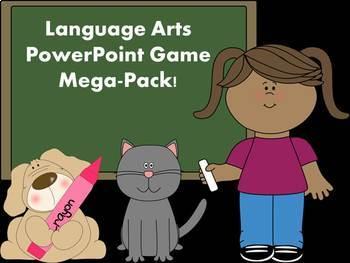 Language Arts PowerPoint Game Mega Pack Bundle