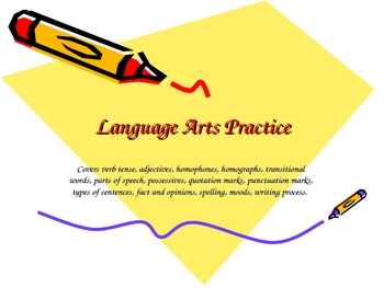 Language Arts Practice- third grade