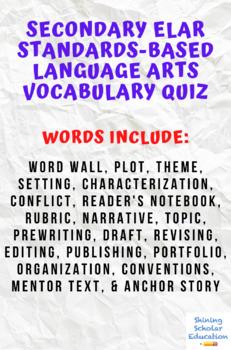 Language Arts Primary Vocabulary Quiz