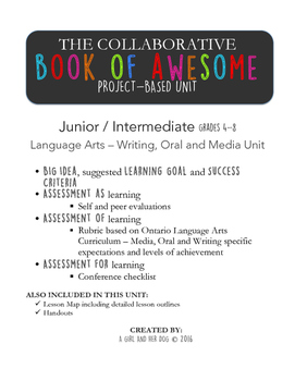 Language Arts Project-Based Unit - The Book of Awesome - Creative Writing