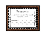 Language Arts Pronouns Task Cards Center
