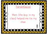 Language Arts / Punctuation Parentheses Task Cards with An