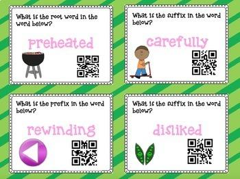 Language Arts Task Cards with QR Codes BUNDLE