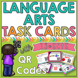 Language Arts Task Cards with QR Codes BUNDLE