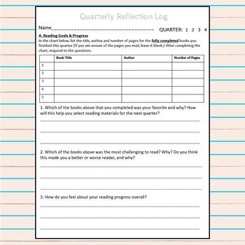 Language Arts Quarterly Reflection Log