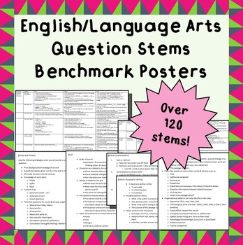 Language Arts Question Stems and Benchmark Outlines