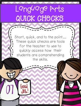 Language Arts Quick Checks