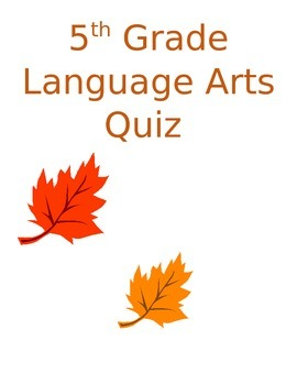 Language Arts Quiz