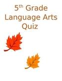Language Arts Quiz