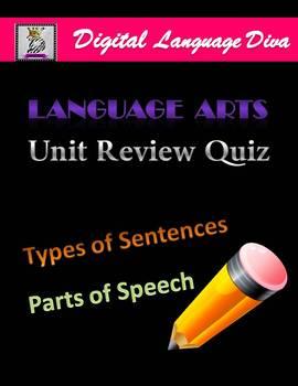 Language Arts Quiz on Parts of Speech and Types of Sentences