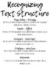 Language Arts / Reading Strategy Cards / Cheat Sheets