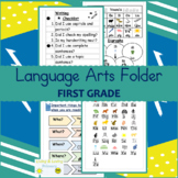 Language-Arts-Folder-First-Grade- IN COLOR & BLACK AND WHITE