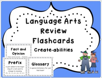 Language Arts Review Flashcards