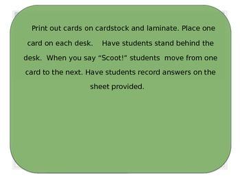 Language Arts Review Scoot