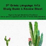 Language Arts Review - Study Sheet
