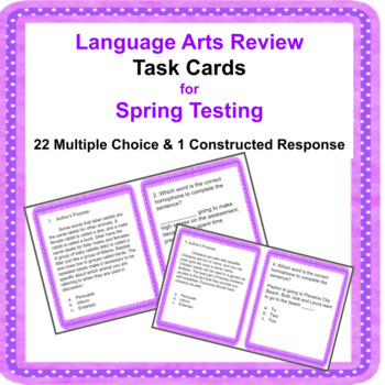 Language Arts  Review for Spring Testing