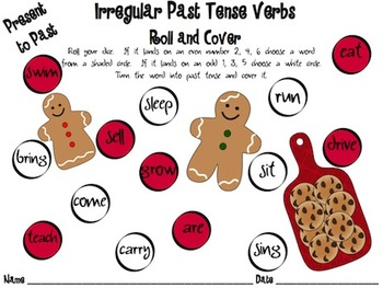 Language Arts Roll and Cover CHRISTMAS edition