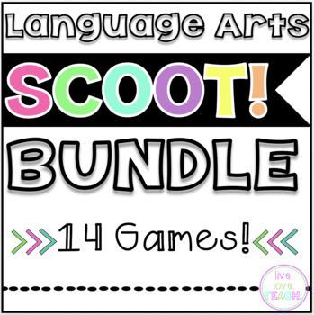 Language Arts SCOOT! Game Bundle- 14 GAMES!
