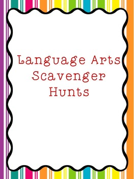 Language Arts Scavenger Hunt