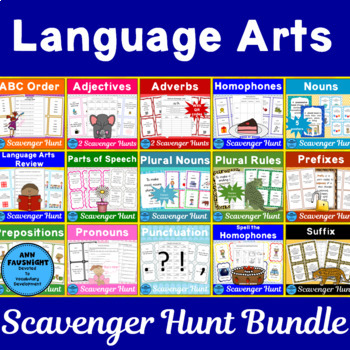 Language Arts Scavenger Hunts Bundle