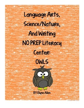 Language Arts, Science/Nature and Writing NO PREP Literacy