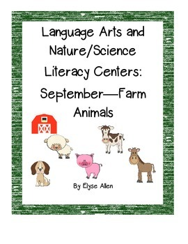 Bundled Language Arts, NO PREP Literacy Centers: September-Farm Animals