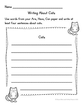 Language Arts, Science/Nature, and Writing NO PREP Literacy Center: CATS