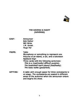 Language Arts Scripts-Adverbs