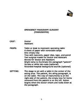 Language Arts Scripts-Paragraphs