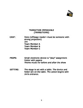 Language Arts Scripts-Transitions