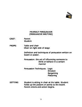 Language Arts Scripts-Writing-Persuasive Writing