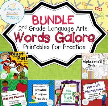 Language Arts Second Grade Printables BUNDLE
