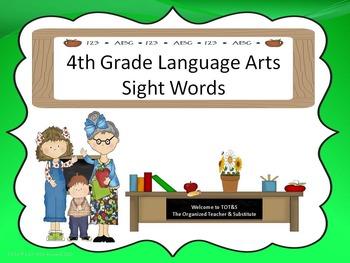 Language Arts Sight Words