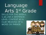 Language Arts Skill 4a combined with writing 3