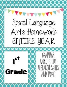 Language Arts Spiral Homework 1st grade Entire Year.pdf