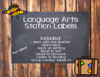 Language Arts Station Labels
