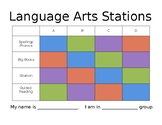 Language Arts Stations Rotations *Editable*