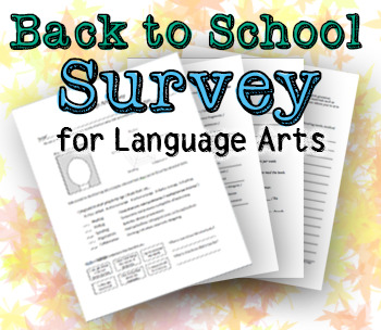 Back to School Survey for Language Arts