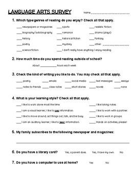 Language Arts Survey