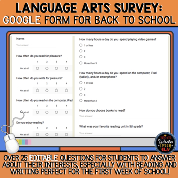 Language Arts Survey: Google Form