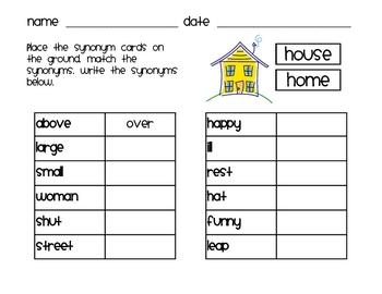Language Arts - Synonyms (Sailboats and Sunshine)